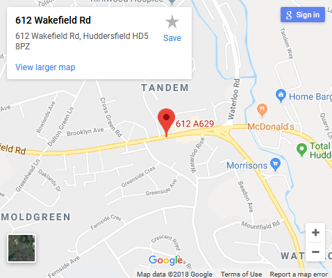 seo huddersfield google map address